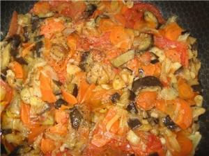 Приготовление овощей в аэрогриле