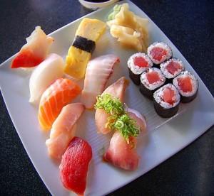 Японское блюдо «суши»