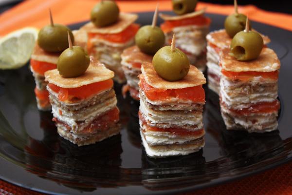Вкусные закуски канапе на день рождения и рецептами