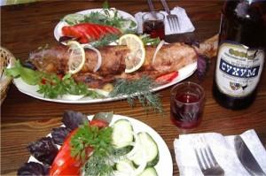 Традиционные абхазские блюда.
