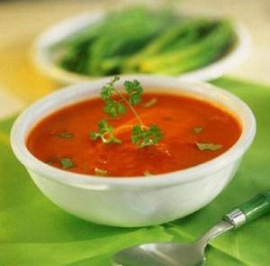 Томатный суп с овсянкой