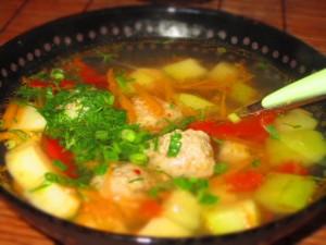 Рецепт приготовления супа с фрикадельками