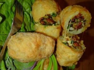 Печёный картофель с креветочной начинкой