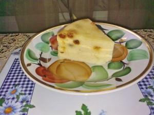 Горячее лимонно-творожное суфле