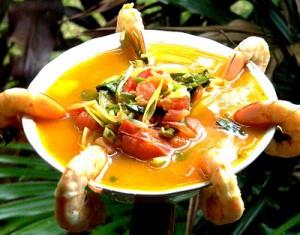 Суп креветочный, классический