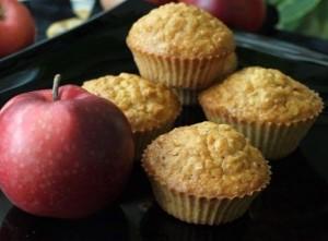 Кексы из овсянки с яблоками