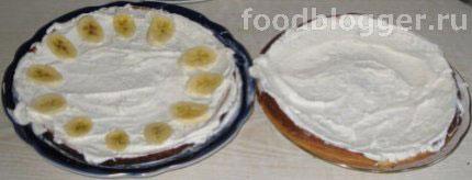 Бисквит с творогом и фруктами - 4