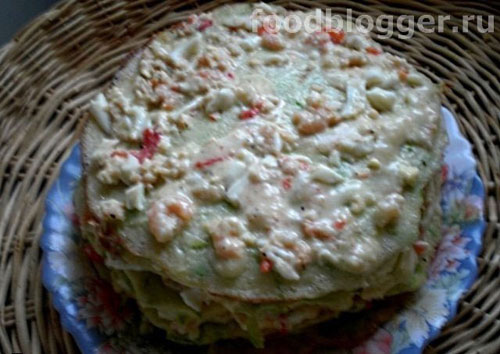 Кабачковый торт с крабовыми палочками - 1