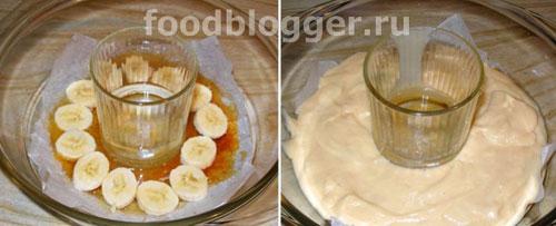 Кекс с бананами в карамели (в СВЧ) - 2