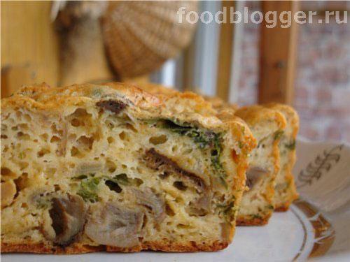 Кекс с сыром и лесными грибами