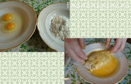 Куриное филе с сыром и грибами - 8