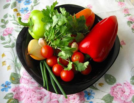 Как подать овощи