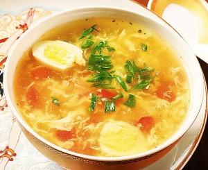 Суп с крабами и курицей