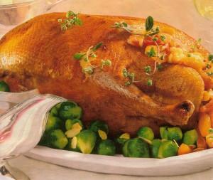 Рецепт приготовления жареного гуся